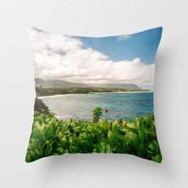 Kilauea Lookout Kauai Hawaii | Tropical Beach Nature Ocean Coastal Travel Photography Print Throw Pillow