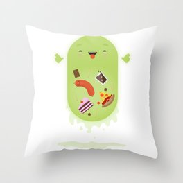 Ghostbusters - Slimer - You'll Ruin Your Dinner. Throw Pillow