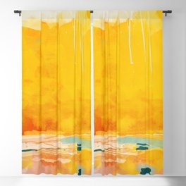 sunny landscape Blackout Curtain