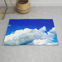 Clouds in a Clear Blue Sky Rug