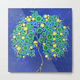 Peacock Tree of Life Metal Print