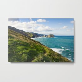 Basque Country coast landscape Metal Print