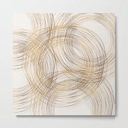 Metallic Circle Pattern Metal Print