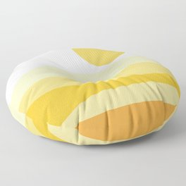 Abstract Landscape 09 Yellow Floor Pillow