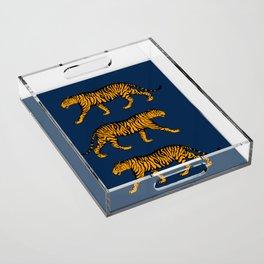 Tigers (Navy Blue and Marigold) Acrylic Tray