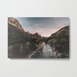 Zion Sunset Metal Print