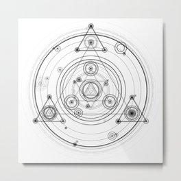 Sacred geometry and geometric alchemy design Metal Print