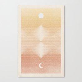 Rising Moon   2 Canvas Print