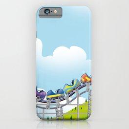 Rollercoaster ride iPhone Case