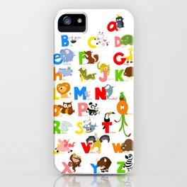 ABC (english) iPhone Case
