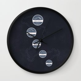Highest Mountains on Earth Wall Clock