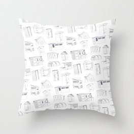 COVER, Contain, Compost - 3 of 3 Throw Pillow