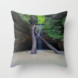 Time Passes and Waterfalls Throw Pillow