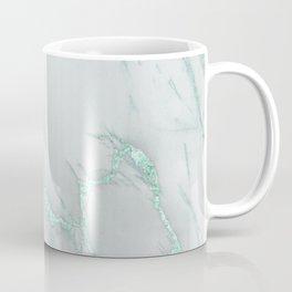 Marble Love Mint Metallic Coffee Mug