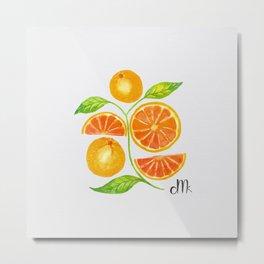 Juicy Grapefruits Metal Print