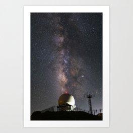 Milky Way over Mount Laguna Observatory 2 Art Print