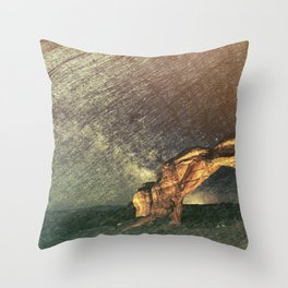 Once Again There was the Desert Throw Pillow