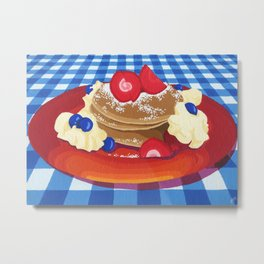Pancakes Week 10 Metal Print