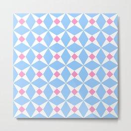 Symmetric patterns 131 pink and blue Metal Print