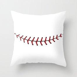 Baseball Lace Smile Throw Pillow