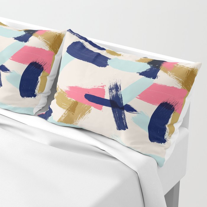 Bohemian tribal brush stroke Pillow Sham