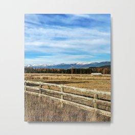 Montana Ranch Landscape Metal Print
