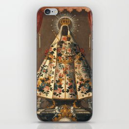 Black Madonna Mexican Painting, 1745 iPhone Skin