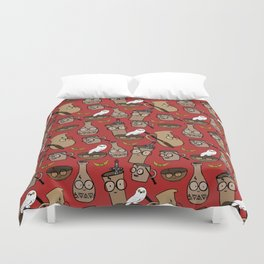 you're all wizards, pottery! pattern Duvet Cover