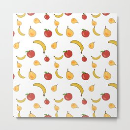 Vegetables colorful pattern Metal Print
