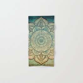 Faded Bohemian Mandala Hand & Bath Towel