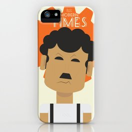 Charlie Chaplin, Modern Times, minimal movie poster, classic film, Charlot, Hollywood iPhone Case