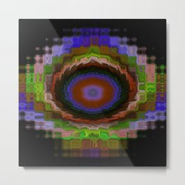Stained Glass Fractals - I Metal Print