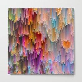 Light meets Dark Colorful Glitch Art Metal Print