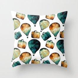 Galaxy Balloon Pattern 02 Throw Pillow