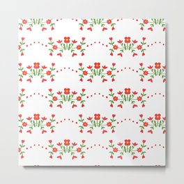 Small floral kitchen collection white Metal Print