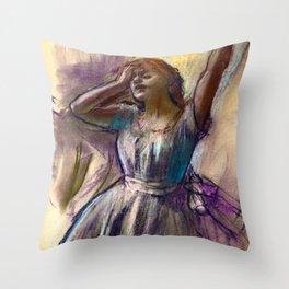 "Edgar Degas ""Dancer Stretching"" Throw Pillow"
