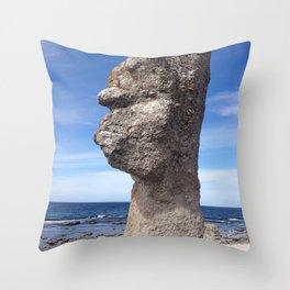 SHAPE OF A FACE I SEA Throw Pillow