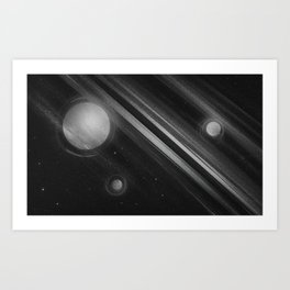 Planets lost in the vast of Space: 02 Art Print