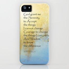 Serenity Prayer Pond Reflections iPhone Case