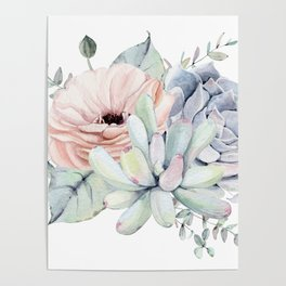Pretty Succulents by Nature Magick Poster