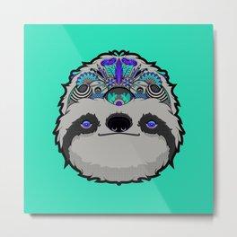 Sloth Thoughts Metal Print