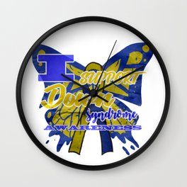 Down Syndrome Awareness Support Butterfly 21 Gift Wall Clock