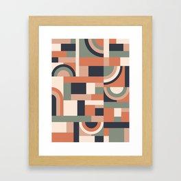 Earth Tones Blocks #society6 #pattern Framed Art Print