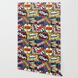 Modern Comic Book Superhero Pattern Color Colour Cartoon Lichtenstein Pop Art Wallpaper