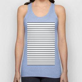 white lines, black and white stripes - striped design Unisex Tank Top