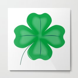 Lucky Four Leaf Shamrock Metal Print