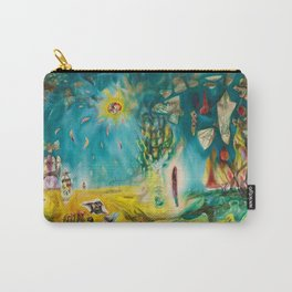 The Earth Is a Man landscape by R. Matta Carry-All Pouch