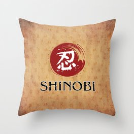 Shinobi Gamer Throw Pillow