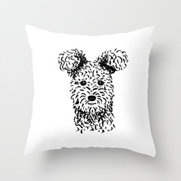 Pumi (Black and White) Throw Pillow