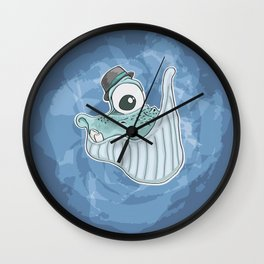 Will the Whale Wall Clock